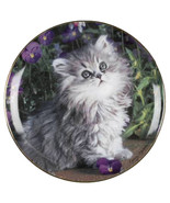 Persian Cat Plate, Cat Gift, Cat Decor, Kitty Plate, Purrfection - $14.99