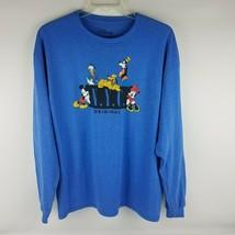 Disney NYC Original Long Sleeve Shirt Mickey Goofy Donald Minnie Pluto Size XL - $28.45