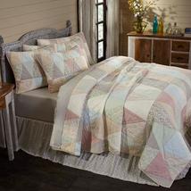 4-pc Ava King Quilt Set - Patchwork Shams & Bed Skirt - VHC Brands - Farmhouse