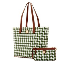 DOONEY & BOURKE LARGE ZIP WITH SMALL WRISTLET GREEN TOTE BAG - $166.32