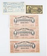 1914-1915 México Peso & Centavo notas LOTE CON / Fecha ERROR AU-UNC Revo... - $88.53