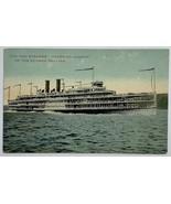 """Old Divided Back Postcard The New Steamer """"Hendrick Hudson"""" of Hudson Da... - $14.65"""