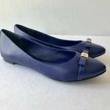 W-116156 New Tory Burch Ultramarine Hugo Blue Mesticol Flats Slip-on Size 9.5 - $123.67