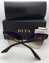 New DITA Sunglasses TRAVELLER 19014-A-BLK-GLD-55 Black & Gold w/Blue Lens+Mirror