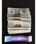 100 x $20 PROP MONEY REPLICA USED style Full Print For Movie Video Films... - $25.99