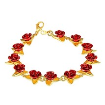 U7 Romantic Rose Flower Bracelet Party Bridesmaid Charming  Jewelry Mother's Day - $32.05