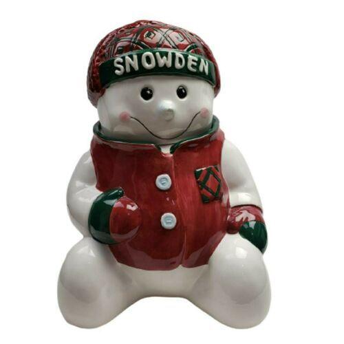 "Vintage 1993 Sakura Snowden and Friends Christmas Cookie Jar 11"" - $62.89"