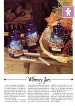 Whimsy Jars Bands Vanessa Ann Cross Stitch Pattern Leaflet - $0.89