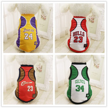 Summer-Fashion-Sport-Basketball-Dog-Clothes-Costume-Chihuahua-Pet-Dog-Cl... - $5.58