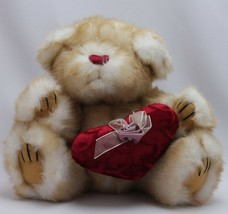 """Valentines Plush Toy Dan Dee Collectors Choice Honey Bear Size 9"""" With R... - $8.99"""
