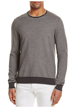 The Men's Store at Bloomingdale's Cotton Birdseye Tonal Trim Sweater, S ... - $49.49