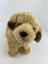 "Aurora Retriever Puppy Dog Plush Stuffed Animal 9"" Tall  Brown Ear Tips ... - $15.83"