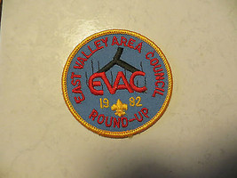 1992,E.VALLEY Area Council Roundup B.S.A.Boy Scouts Of America Collectalbe Patch - $14.25