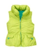 NWT Gymboree Color Happy S 5 6 Lime Green Fleece Lined Puffer Vest Girls - $12.99