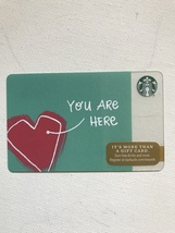Starbucks Gift Card - NEW - YOU ARE HERE IN MY HEART 2016 - $1.19