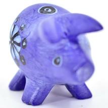 Tabaka Chigware Hand Carved Kisii Soapstone Blue Pig Miniature Mini Figurine image 2