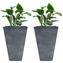 "Tall Planters 26"" Large Flower Pots Pack 2, Indoor and Outdoor Patio Dec... - $2.759,08 MXN"