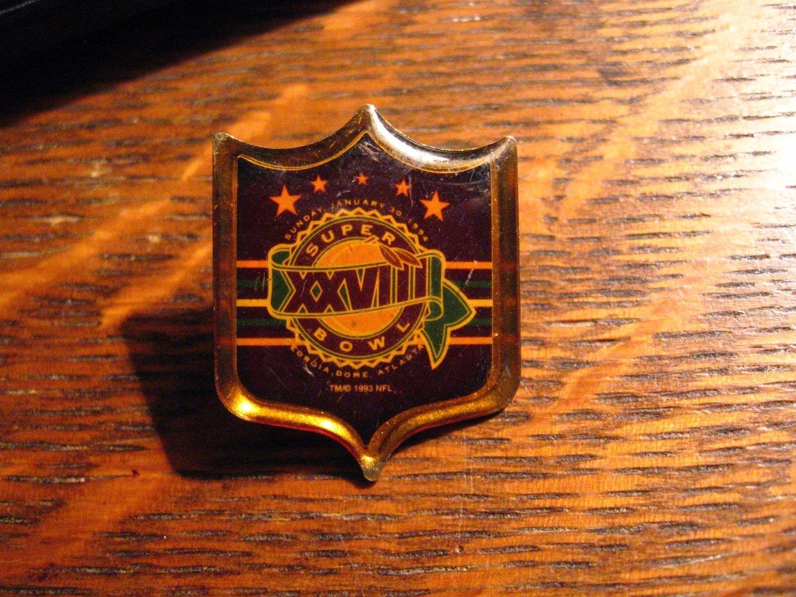 Super Bowl XXVIII Pin - Vintage 1994 Georgia Dome Atlanta Dallas Cowboys NFL Pin
