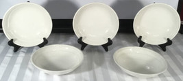 """5- Focus Ivory 7 1/2"""" Coupe Soup Cereal Bowl Johnson Brothers England - $123.75"""