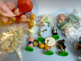 Vintage 1970s Lot of 40 Cake Toppers Wilton Looney Tunes Babies Angels D... - $18.99