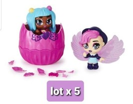 Hatchimals Mini Pixies 2 Dolls + Jumbo Wings Mix n Match Wings  Lot of 5 - $43.56