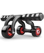 Abdominal Wheel Roller Coaster Home Sports Gym Fitness Waist Exercise Eq... - £49.27 GBP