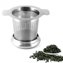 Tea Infuser Stainless Steel Herbal Leaf Mesh Strainer Filter Metal Silve... - €7,49 EUR
