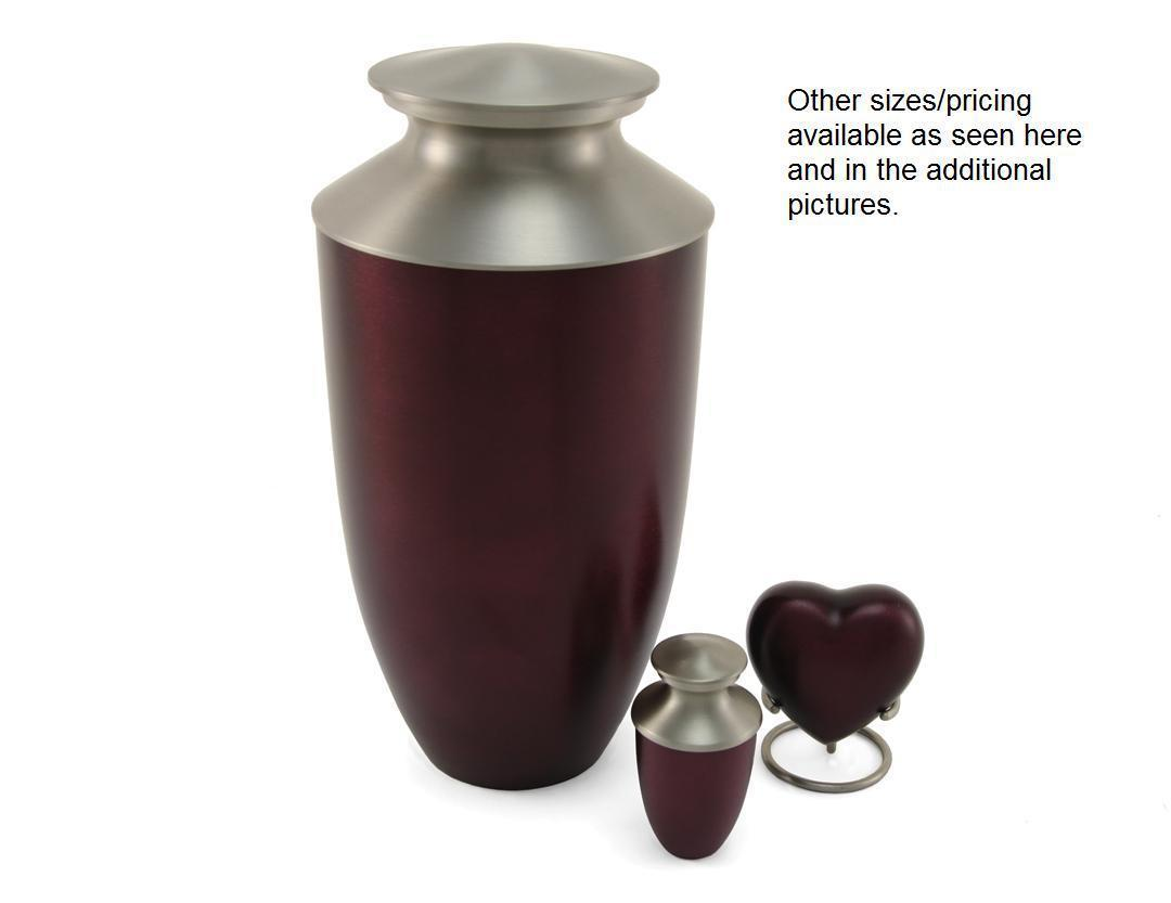 Red 6 Keepsake Set Funeral Cremation Urns for Ashes, 5 Cubic Inches each image 2