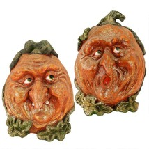 Pumpkin Patch Jack-O-Lanterns: Set Of 2 Halloween Decorations Haunted House - £63.96 GBP