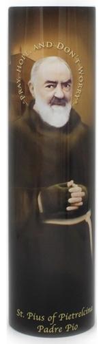 Padre pio   led flameless devotion prayer candle