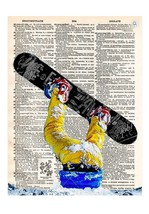 Art N Wordz Shredder Thrasher Snowboarder Dictionary Page Pop Art Print ... - $21.00