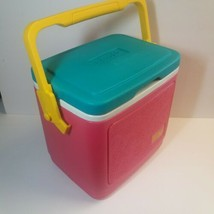 VTG Legend 10 IGLOO Cooler Ice Chest Neon Yellow Teal Hot Pink Turquoise... - £40.12 GBP