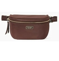 Kate Spade Dawn Spade Webbing Belt Bag Chocolate Cherry $199 - $79.99