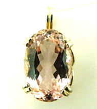 Genuine Sweet Pink Kunzite / Sterling Silver Pendant from KT Elegant Jewelry - $149.95