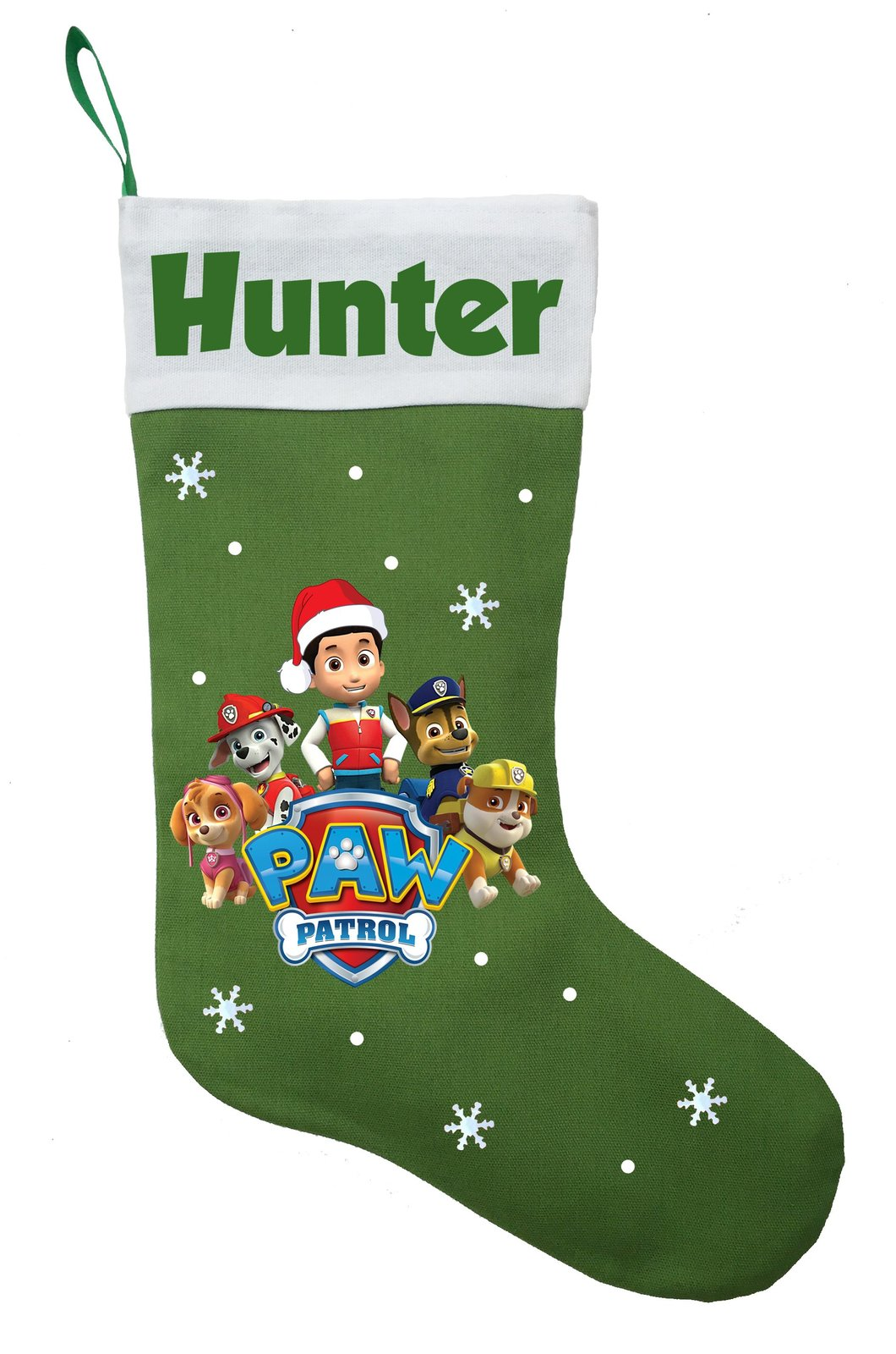 Paw Patrol Christmas Stocking - Personalized and Hand Made Paw Patrol Stocking