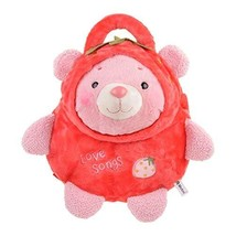 PANDA SUPERSTORE Creative Lovely Cozy Children's Backpack/Plush Backpack(Red Bea - $31.69