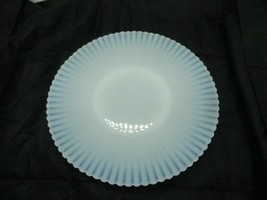 Macbeth Evans Petalware Depression Glass Plate White Opalescent Monax - $14.97