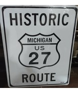 """Historic Michigan US Route 27 8""""x10"""" Metal Street Sign - $12.76"""