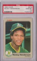 1983 Fleer Rickey Henderson #519 PSA 10 P652 - $25.08