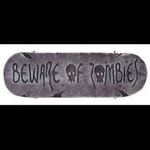 Gothic Warning Sign-BEWARE of ZOMBIES-Walking Dead Halloween Prop Decora... - $5.91