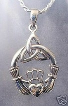 SALE Claddagh Celtic Infinity knot Sterling Silver 925 charm - $24.75