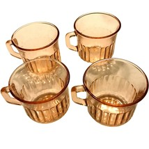 SET OF 4 FORTECRISA PINK GLASS COFFEE MUGS - MADE IN MEXICO - $19.99