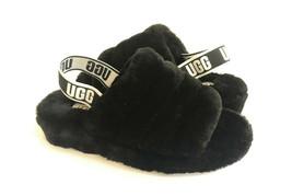 Ugg Fluff Yeah Slide Black Mocassin Slip On Sandal Us 9 / Eu 40 / Uk 7 - $98.18