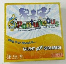 Spontuneous The Game Where Lyrics Come to Life Board Game Ages 8+ - $20.08