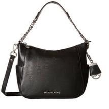 NEW! MICHAEL KORS Chandler Black Leather Large Convertible Shoulder Bag  - $346.38