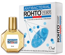 03 Rohto Antibacterial Eyedrops 13ml For Conjunctivitis and Sty - $26.45