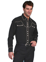 Men's Western Shirt Rockabilly Country Cowboy Music Embroidered Long Sleeve - $87.38