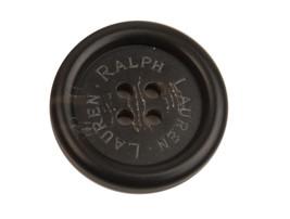 "Ralph Lauren Black Plastic Sleeve or Pocket Replacement  button .60"" - $3.46"