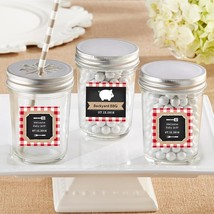 Personalized Glass Mason Jar - BBQ (2 Sets of 12)  - $41.99