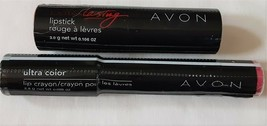 2 Avon Lipstick & Crayon Pink Premier Stay Put Plum - $14.74
